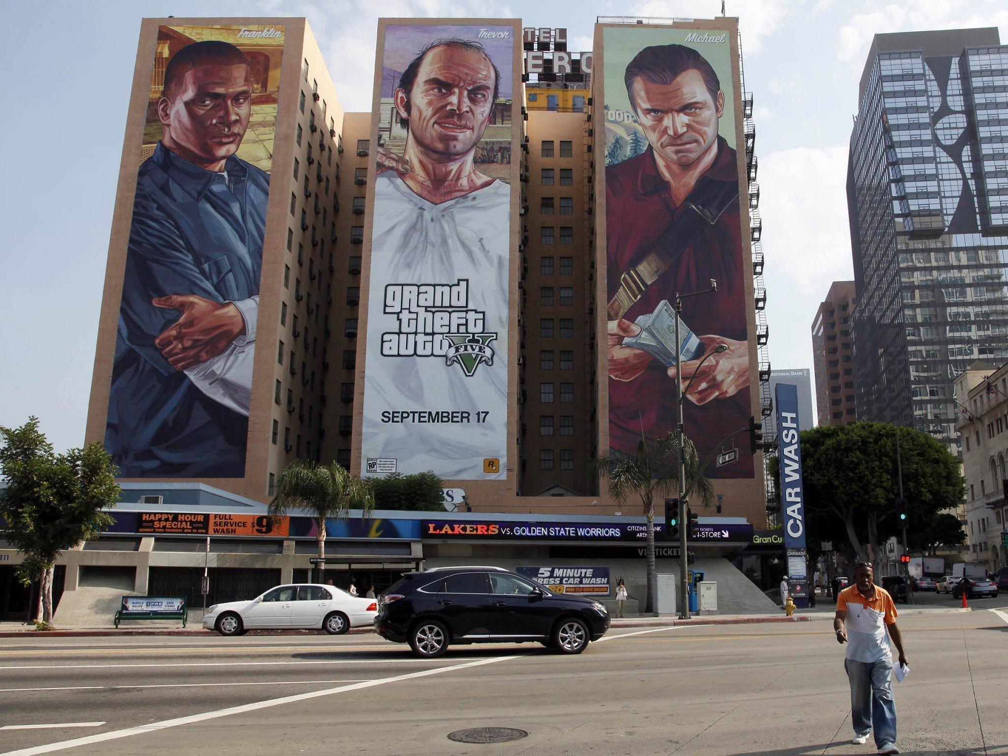 Der neue Teil von Grand Theft Auto steht seit Dienstag in den Läden.