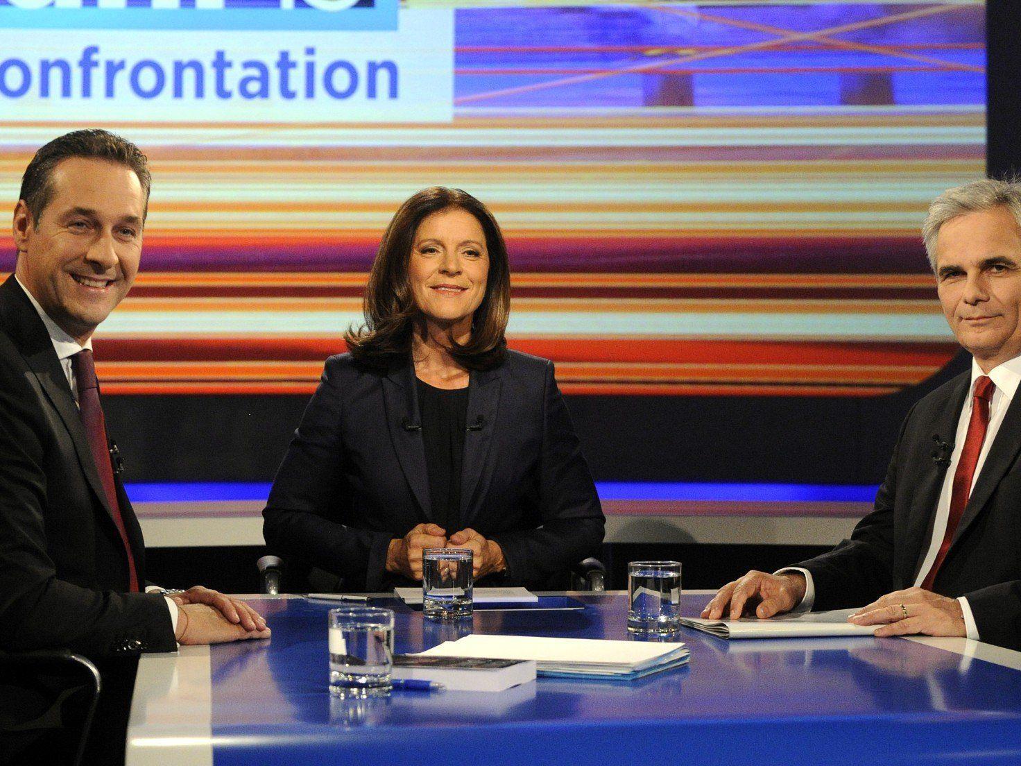 Das TV-Duell zwischen Werner Faymann und Heinz-Christian Strache endete in einer hitzigen Diskussion.