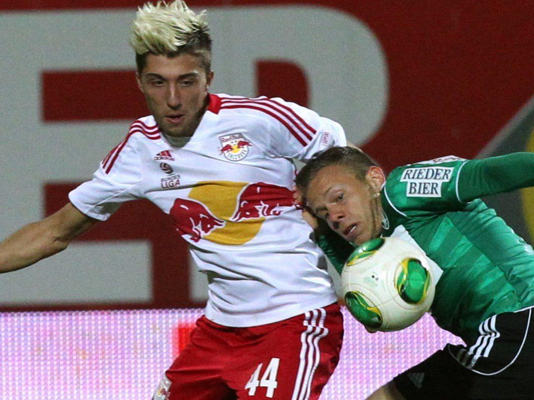 Wir berichten am Sonntag ab 16.30 Uhr live vom Spiel SV Ried gegen Red Bull Salzburg im Ticker.