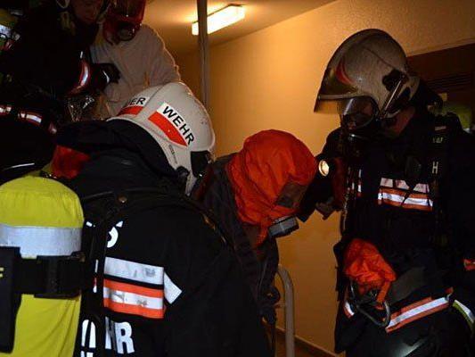 Bei der Evakuierung des Hauses in der Liniengasse