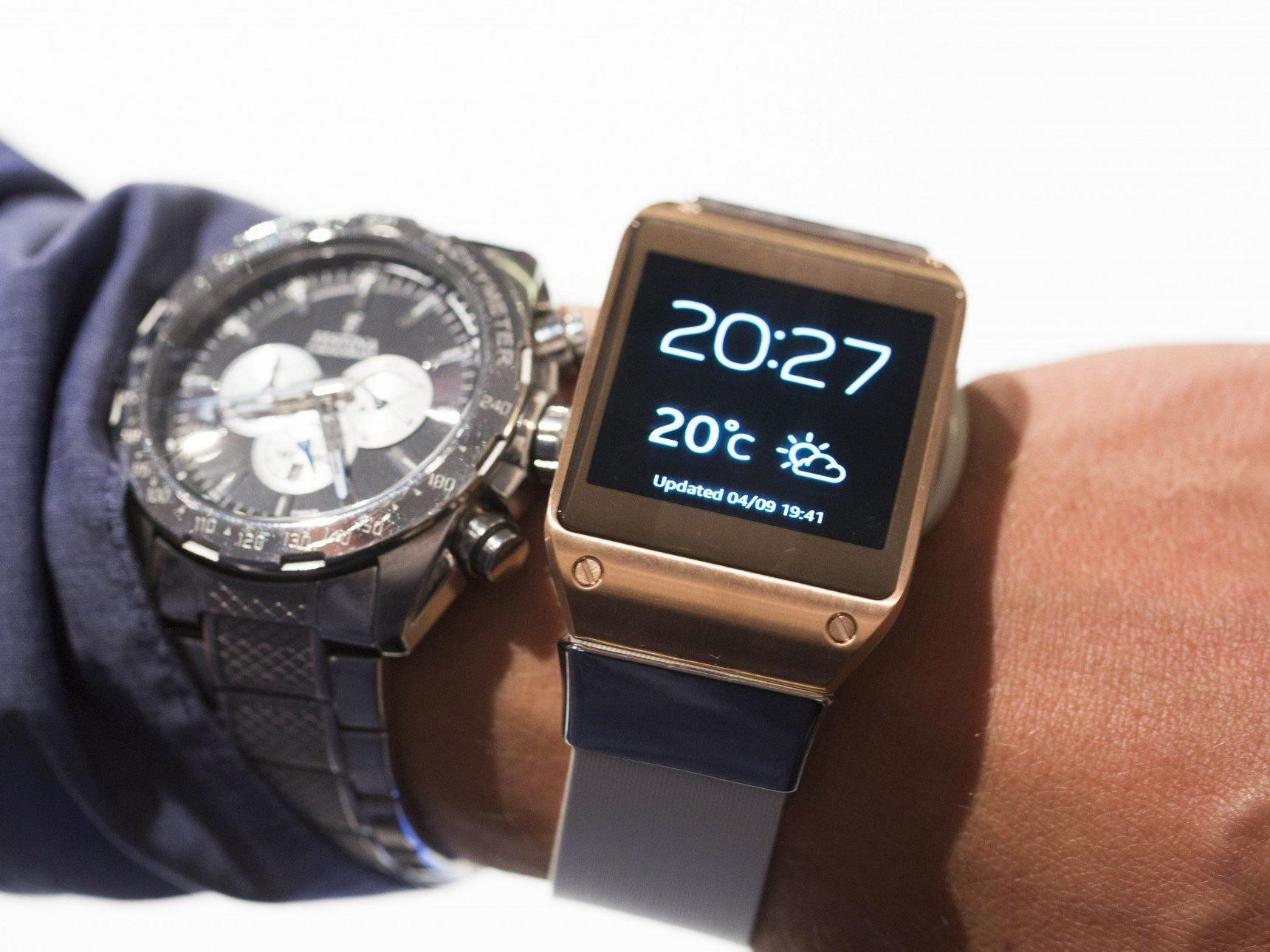 Elektronikriese Samsung präsentierte in Berlin seine erste Smartwatch, die Galaxy Gear.