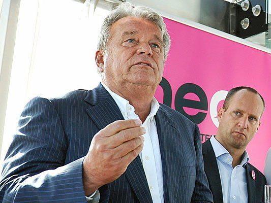 Unternehmer und Strabag-Chef Hans-Peter Haselsteiner (l.) und NEOS-Spitzenkandidat Matthias Strolz