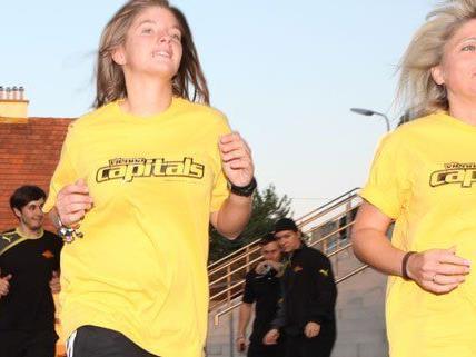 Am 21. September findet wieder der Women's Run statt - sechs Capital-Fans konnten bereits vorab mit dem Betreuerteam trainieren.