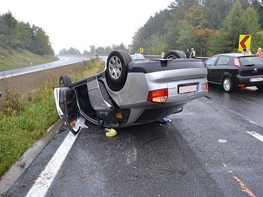Beim ersten Unfall auf der A2