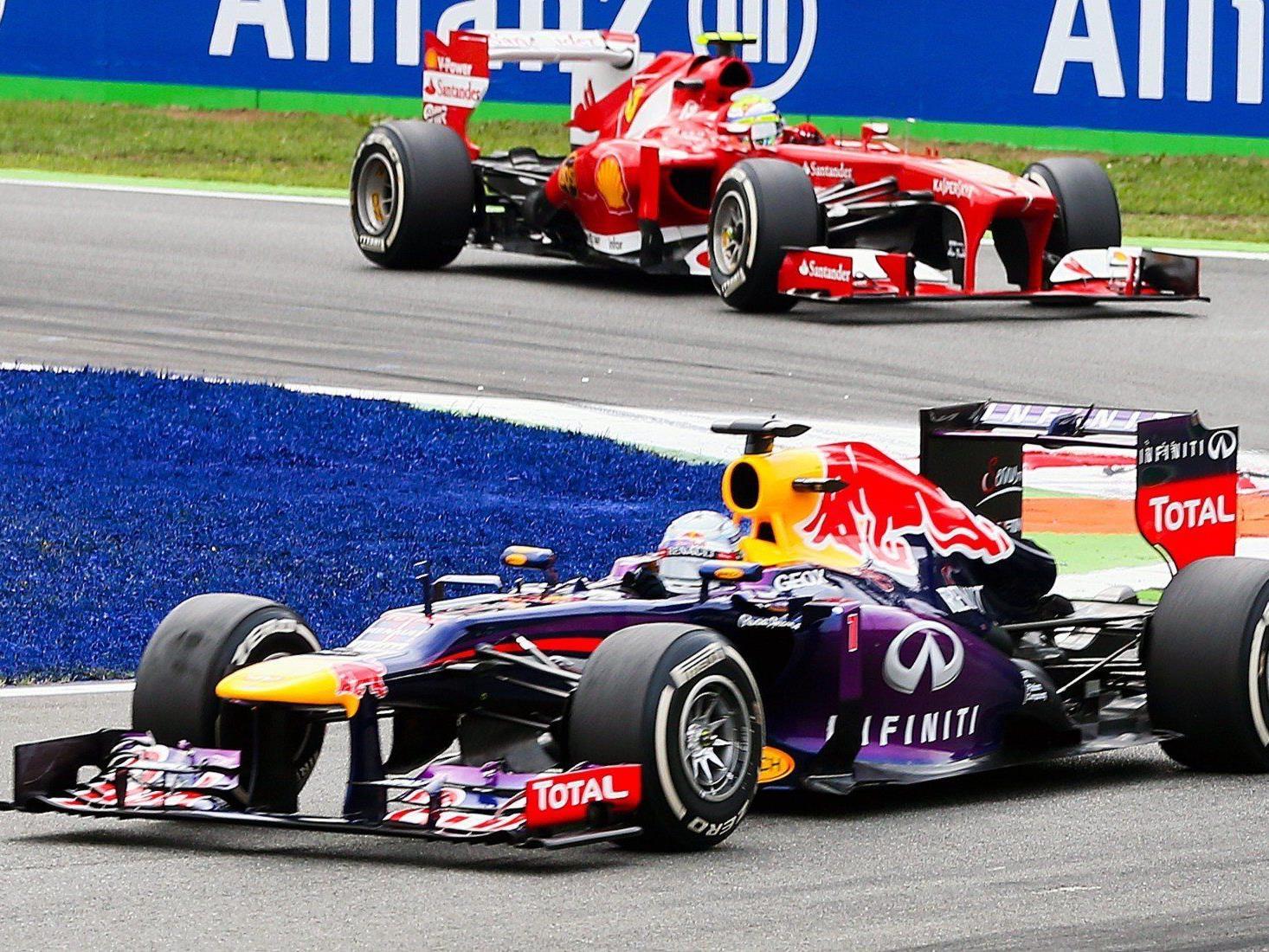 Vettel bereits 53 Punkte vor Alonso.