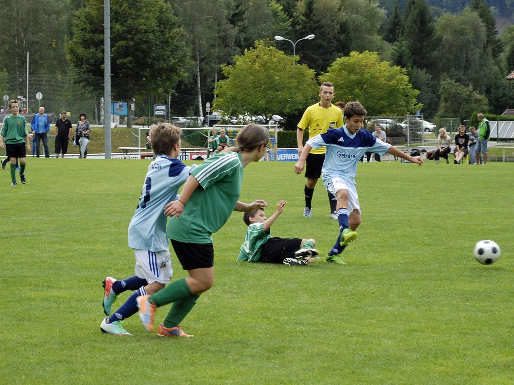Besonders in der zweiten Halbzeit zeigte die SPG Montafon U14 tollen Jugendfußball.
