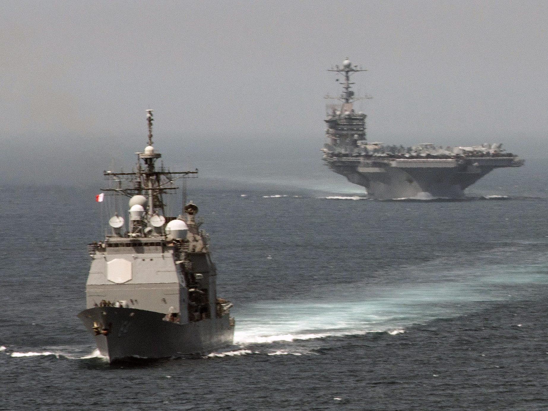US-Schiffe kreuzen im Mittelmeer, aber ob von ihnen wirklich Raketen abgefeuert wurden, ist noch offen.
