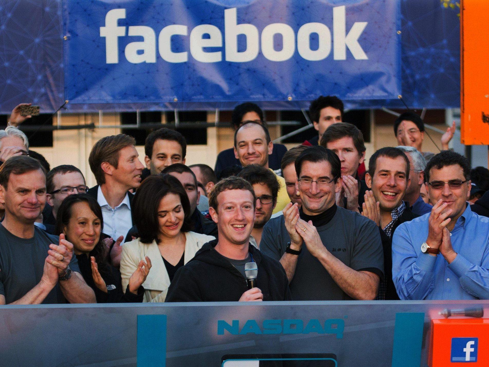 Facebook-Gründer Mark Zuckerberg beim Börsengang des Soziales Netzwerks in New York.