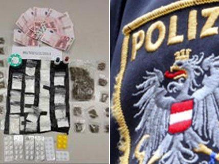 Zahlreiche Päckchen mit Drogen wurden sichergestellt.