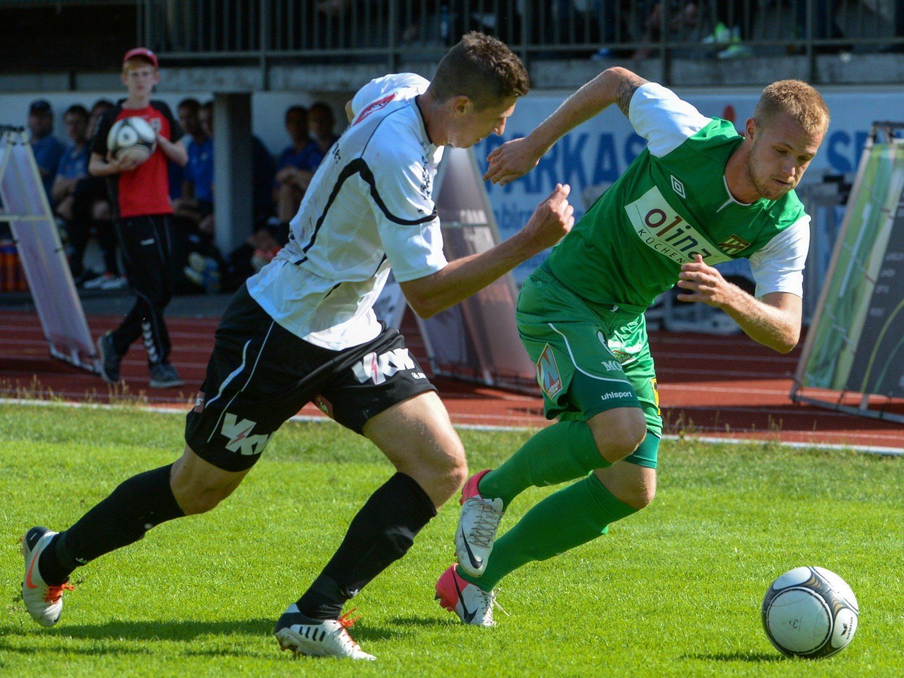 Altach und Lustenau stehen sich in der 9. Runde nicht als Gegner gegenüber, müssen aber trotzdem in ihren Partien vollen Einsatz zeigen.