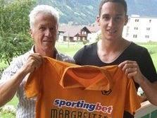 Georg Margreitter mit FC  Schruns Nachwuchsleiter Rudi Summer