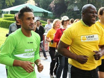 Auch zahlreiche Promis trainieren bereits für den Lauf in Wien.