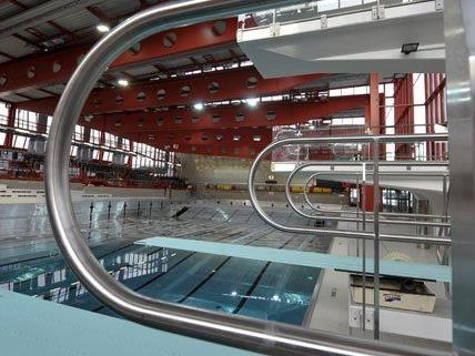 Wiener Stadthallenbad - Sanierungsfortschritt: Trainingsbecken dicht