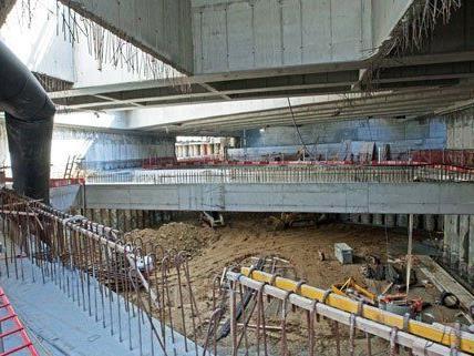 Die Bauarbeiten für die U1-Verlängerung laufen auf Hochtouren.
