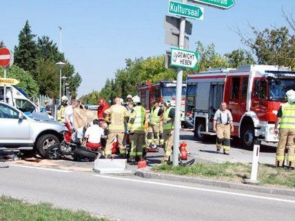 Schwerer Motorrad-Unfall am Samstag.