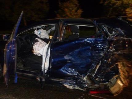 Vier Fahrzeuge waren in den Unfall am Donnerstag verwickelt.