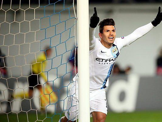 Aguero erzielte beide Tore der Gäste