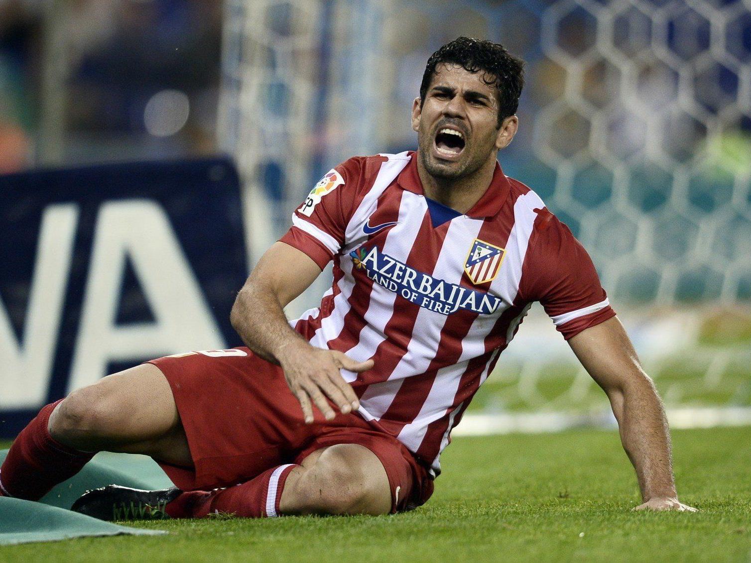 Atletico Madrid bangt um den Champions League-Einsatz von Diego Costa.