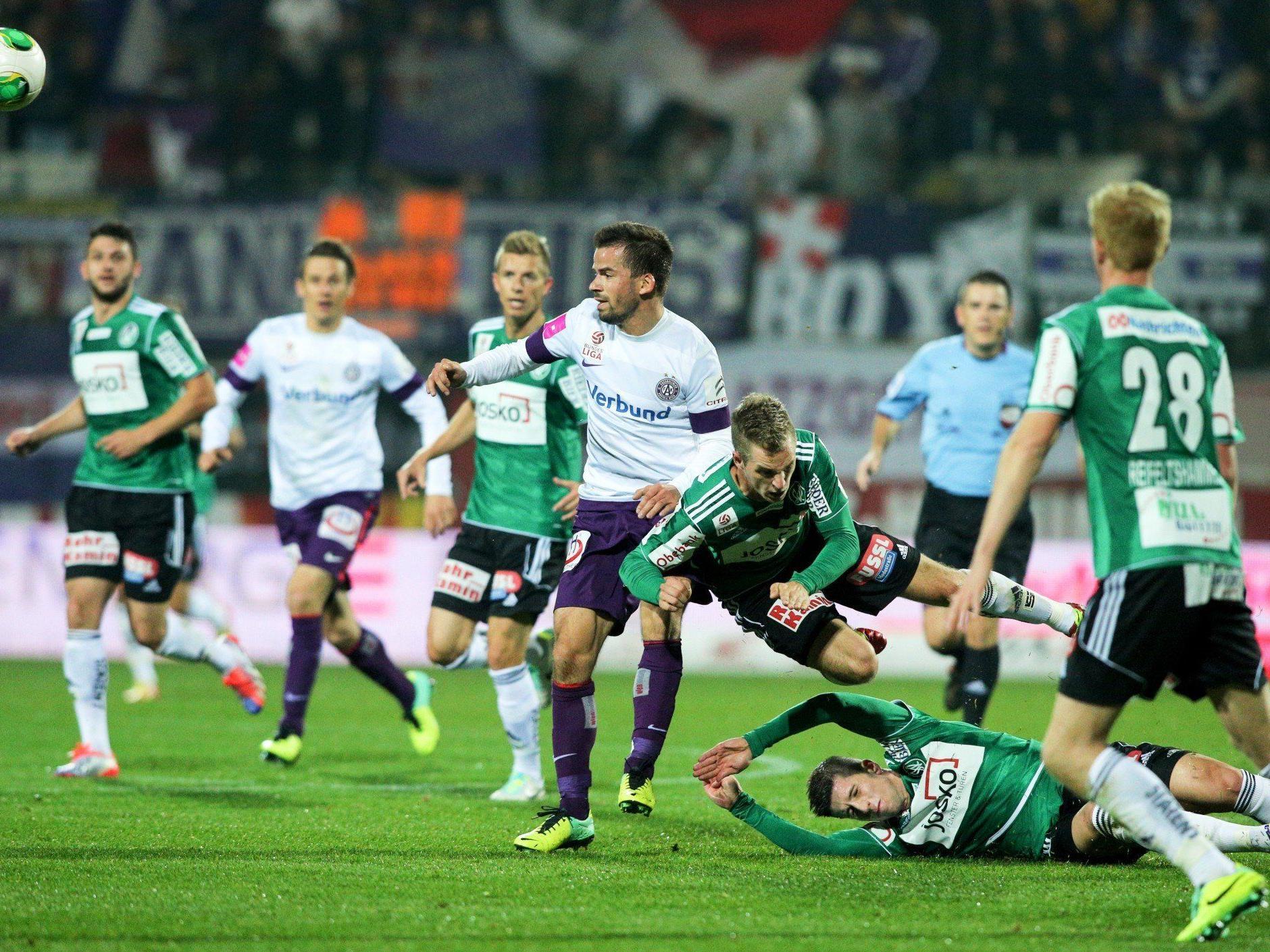 Fußball-Meister Austria Wien spielt vor vor CL-Auftritt nur 1:1 gegen Ried