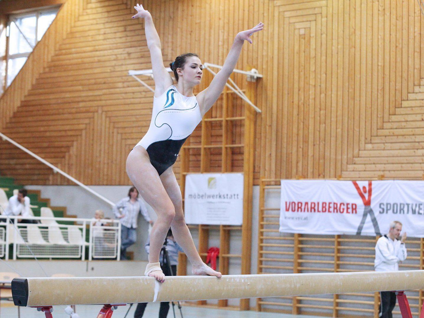 Die Lustenauerin Elisa Hämmerle wurde neue Landesmeisterin im Kunstturnen.