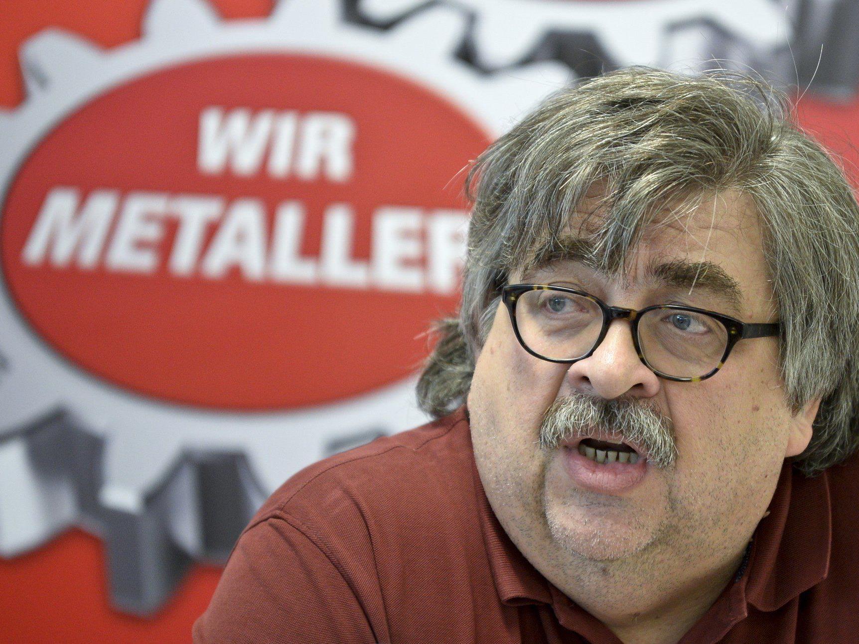 Gewerkschaftsvertreter Karl Proyer bei einer Pressekonferenz in der Vorwoche.