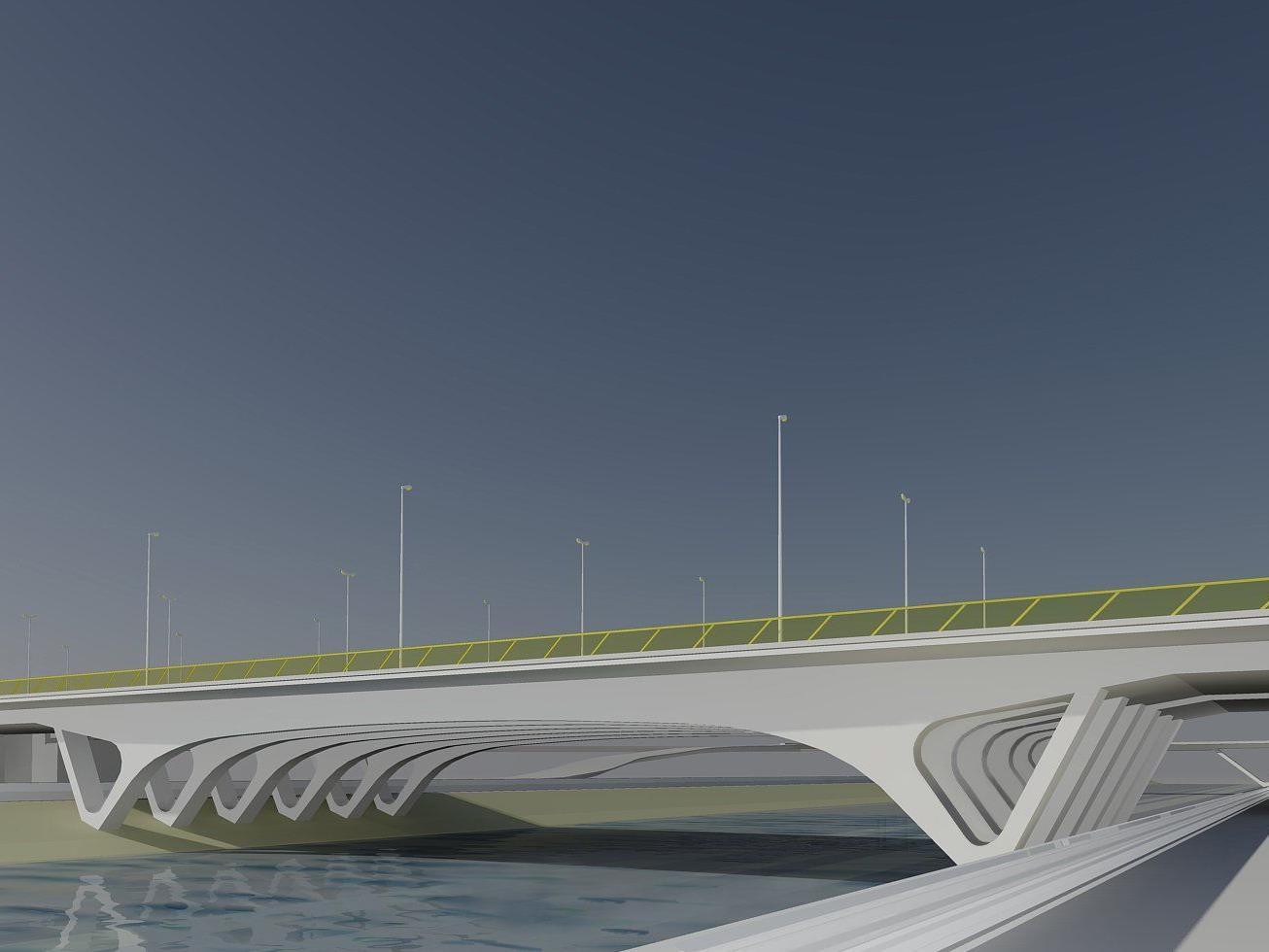 A 23 - Südosttangente: So Soll die Erdbergbrücke nach Festigstellung aussehen.