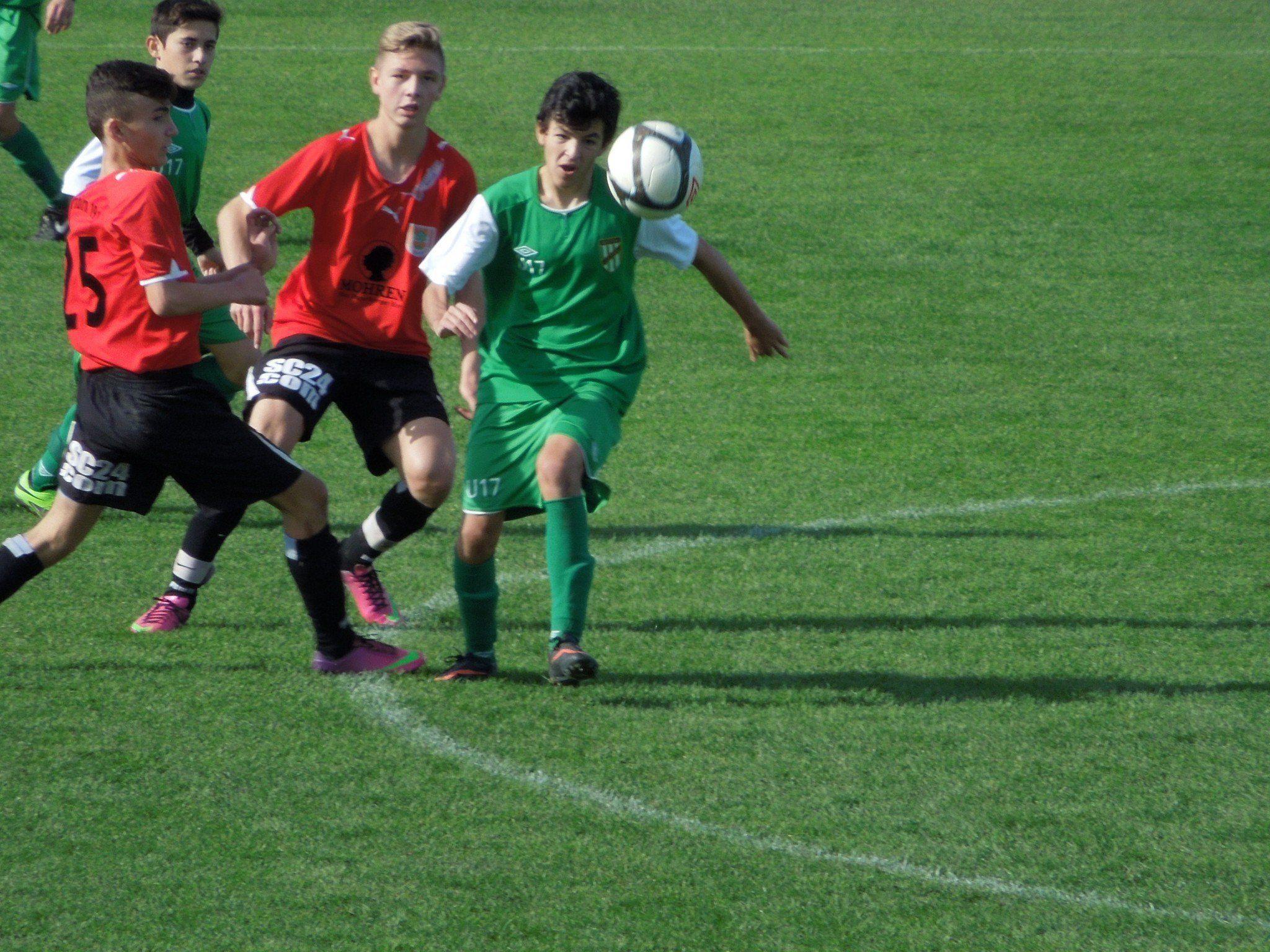 Die Dornbirner U16 holte sich den Sieg gegen den SC Austria Lustenau.