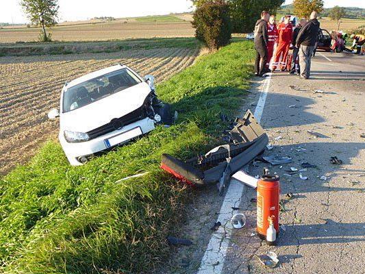 Auf der L27 geschah ein schwerer Unfall