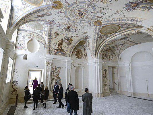 Die Prunkräume im einstigen Winterpalais von Prinz Eugen in der Himmelpfortgasse in Wien