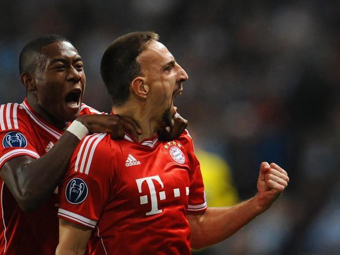 Ribery jubelt über den Führungstreffer