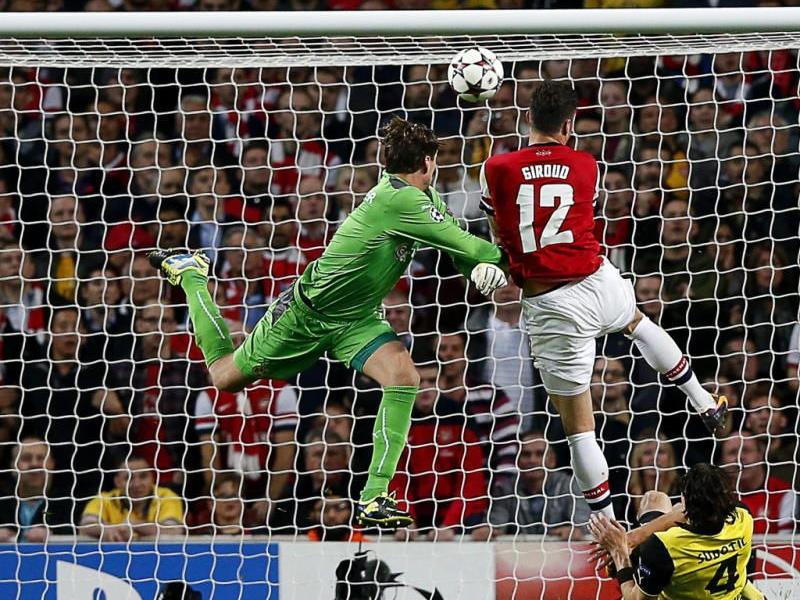 Giroud trifft gegen Dortmunds Weidenfeller