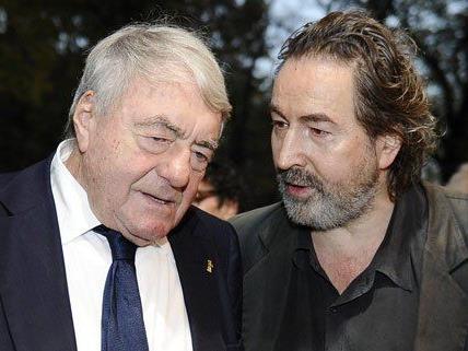 Claude Lanzmann (links) vor der Premiere in Wien.