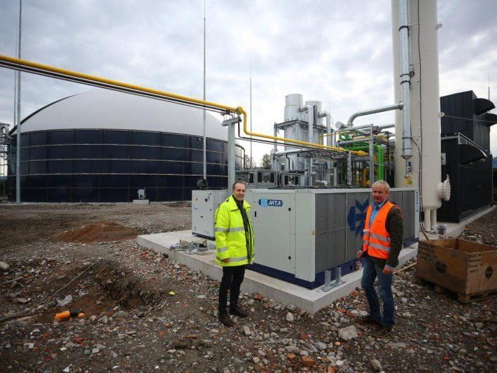 Aus einem Kilogramm ¬Bioabfall wird in etwa eine ¬Kilowattstunde Biogas erzeugt.