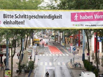 Die Mariahilfer Straße soll auf der ganzen Länge gepflastert werden.