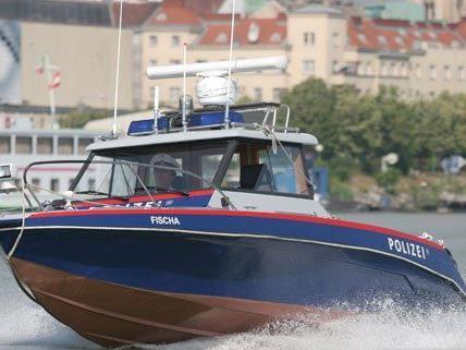 Das Polizeiboot Fischa ist gesunken.
