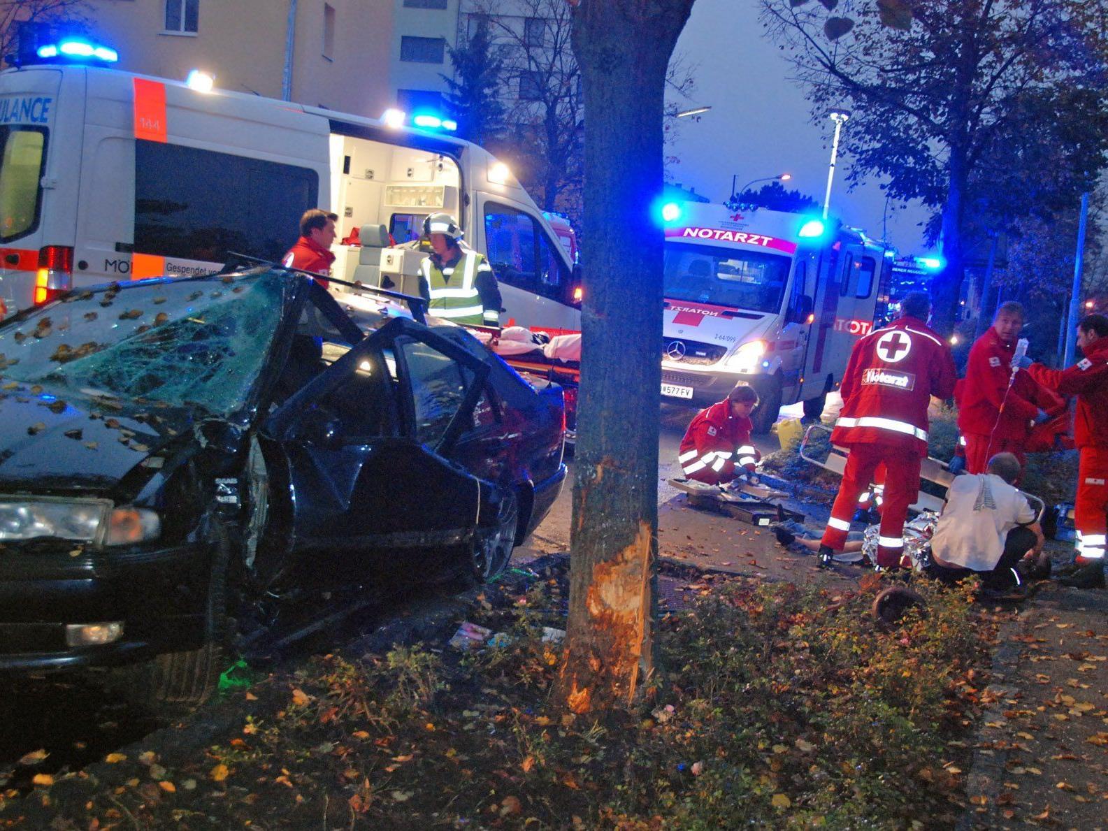 Unfall am Samstagmorgen in Wiener Neudorf.