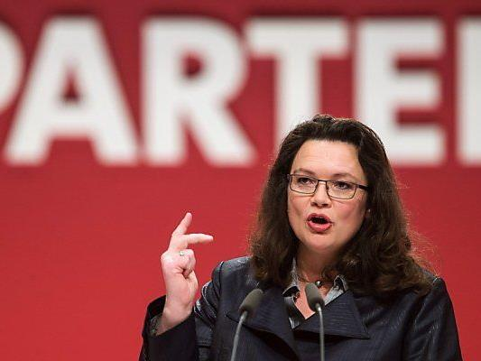 SP-Generalsekretärin Nahles erhielt 67,2 Prozent