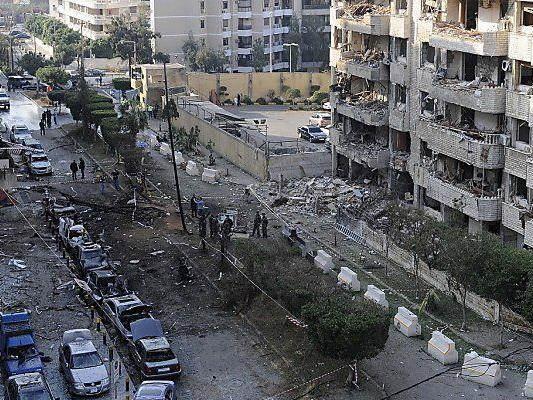 Irans Botschaft in Beirut ein Ort der Verwüstung