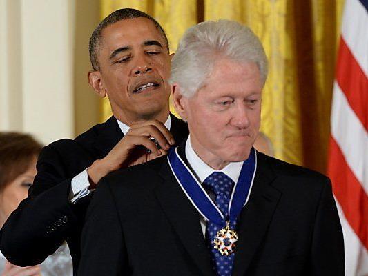 Obama legte bei einem seiner Vorgänger Hand an