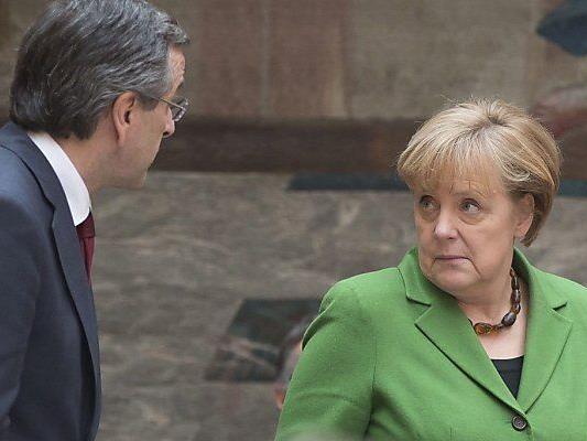 Samaras und Merkel besprechen griechische Finanzen