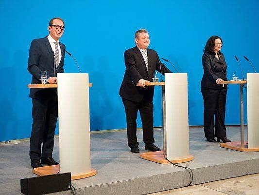 Verhandlungen über Große Koalition auf Zielgeraden