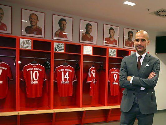 Trainer Guardiola soll die Bayern zum Sieg führen