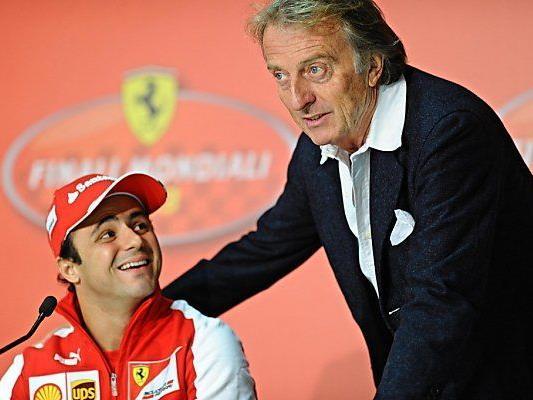 Massa mit Ferrari-Präsident Luca di Montezemolo