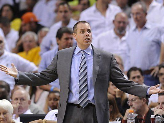 Pacers-Coach Frank Vogel im Hoch