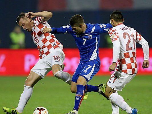 Kroaten besiegten Außenseiter Island 2:0