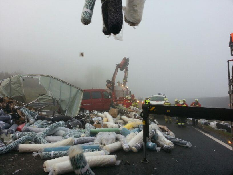 18 Leichtverletzte bei Massenkarambolage auf A1