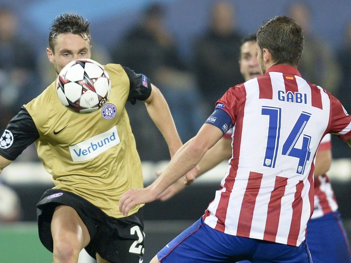 Die Wiener Austria spielt am Mittwochabend erneut gegen Atletico Madrid.