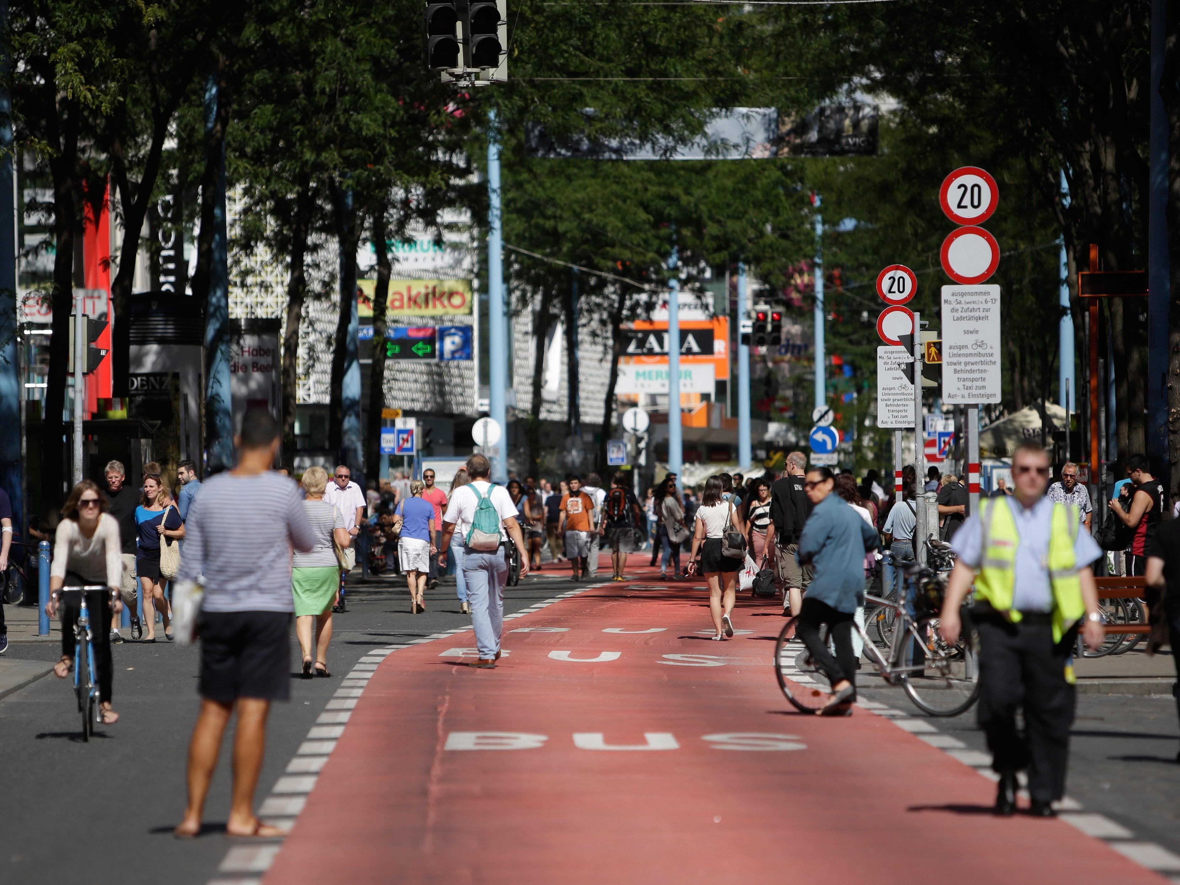 Am Mittwoch wurden die Zahlen ver Verkehrszählung der Mariahilfer Straße präsentiert.