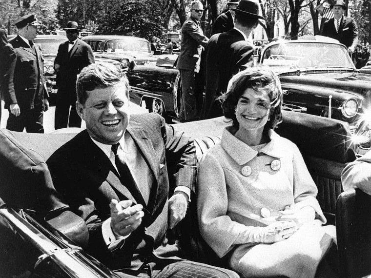 US-Präsident John F. Kennedy und seine First Lady, Jacqueline Kennedy, im Jahr 1961.