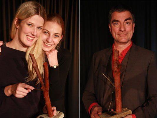Ute & Tatiana sowie Thomas Kreimeyer freuen sich über die Preise